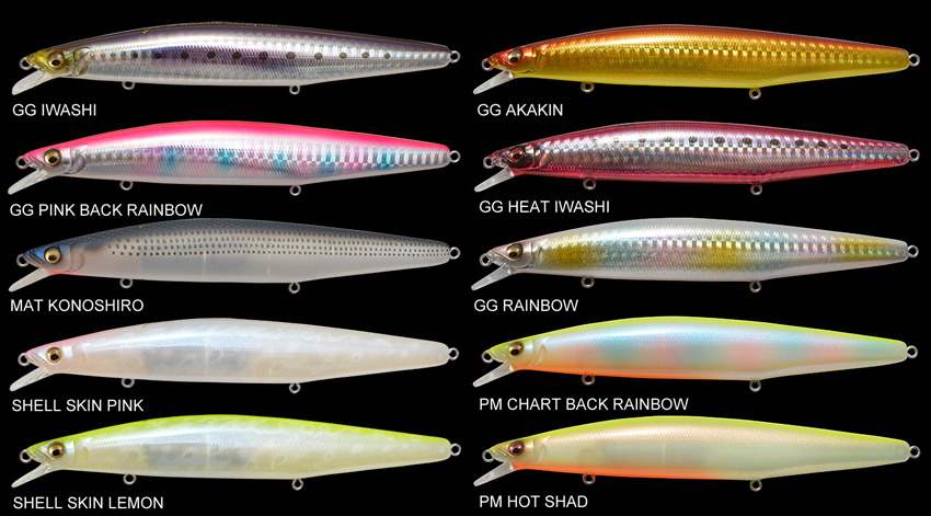 Megabass Marine Gang 140s Sinking Lure GG Rainbow 9790 for sale online